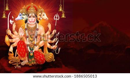 Hanuman Indian god Hanuman ji wallpaper 3d Illustration