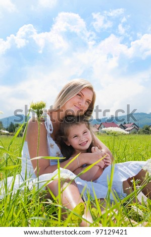 happines of the mother and daughter