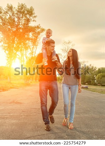 Happiness family outdoor