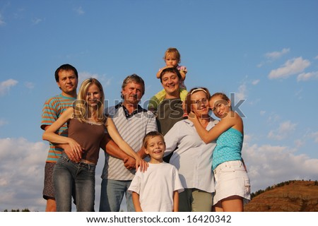 Happiness large family - stock photo