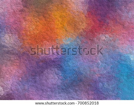 happiness theme graphic illustration paint like background - Shutterstock ID 700852018
