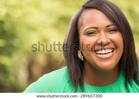 Happy African American woman #289607300