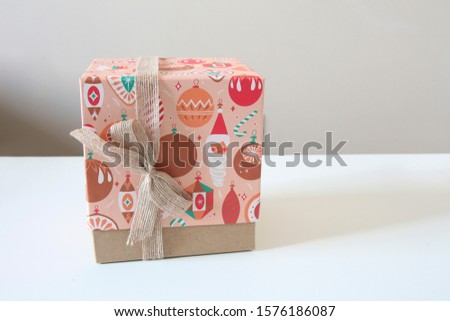 Happy and Colorful Present in an Isolated Background.