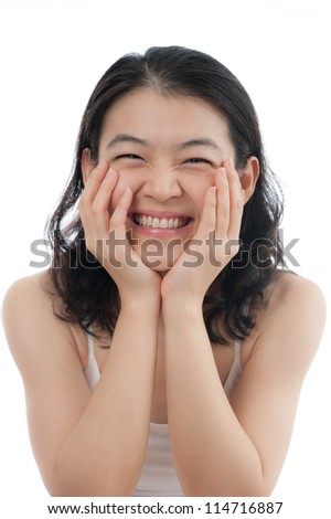 Happy Asian girl with smile