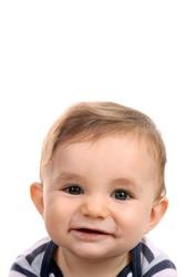 happy baby boy, studio photo session
