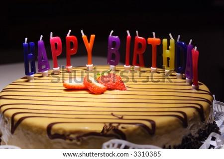 كل سنه وانت طيب يا احمد (No love) - صفحة 2 Stock-photo-happy-birthday-cake-3310385