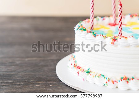 happy birthday cake on table