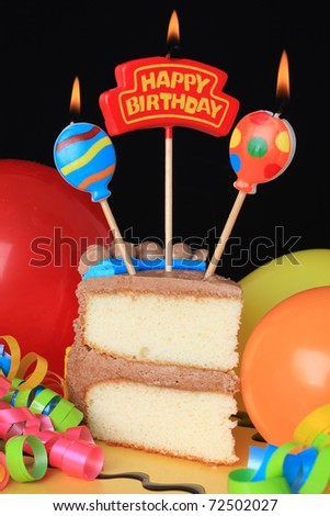 happy birthday cake candles. stock photo : Happy birthday cake with burning candles.