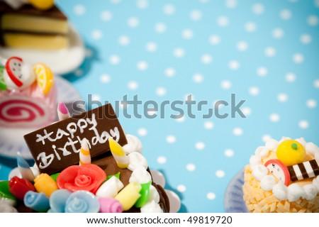 Happy birthday cakes. Celebration collection.