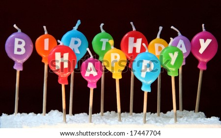 Happy birthday candles - stock photo
