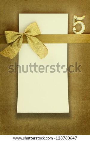 Happy birthday card on golden background
