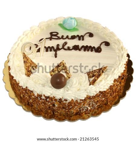Happy Birthday chocolate pie cake