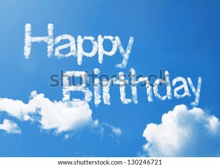 Happy birthday cloud word