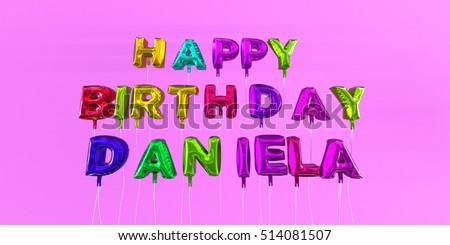 Happy Birthday Mathilda Card With Balloon Text