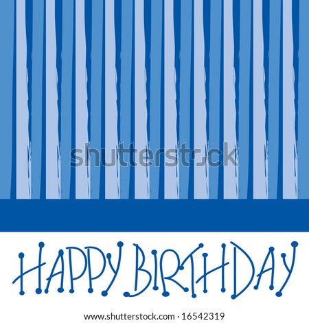 Happy Birthday Design Suitable For Greeting Card Stock