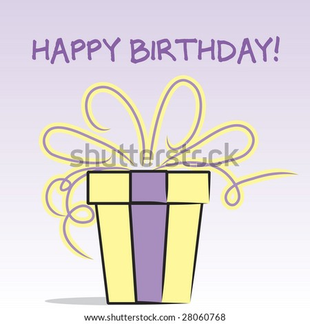 stock photo : Happy Birthday gift box graphic