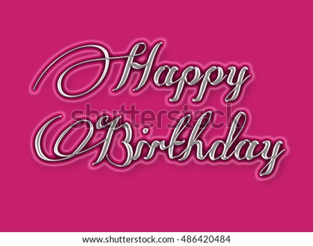 Happy Birthday Greeting card background.