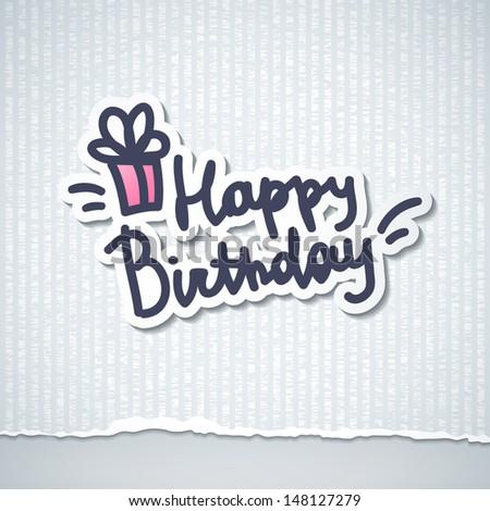 happy birthday, handwriting lettering