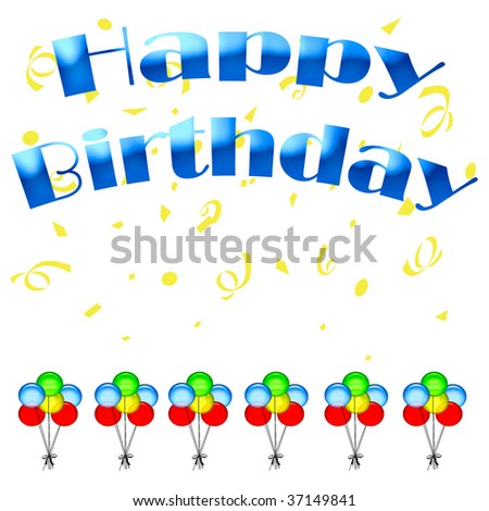 happy birthday pictures to colour. stock photo : happy birthday