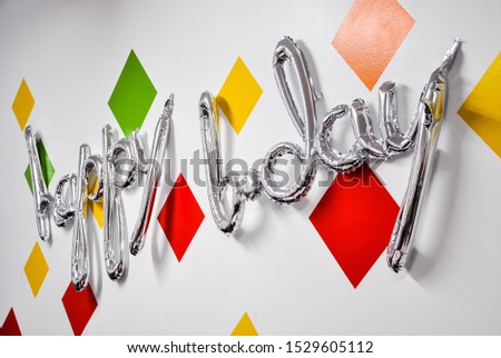 Happy birthday sign on the wall