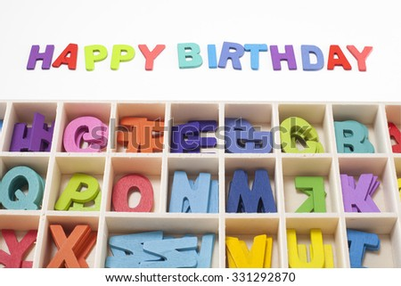Happy Birthday Word Creative Design For Art Work Idea 331292870