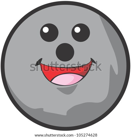 Happy Bowling Ball Illustration