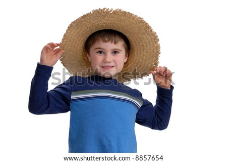 Happy boy with hat