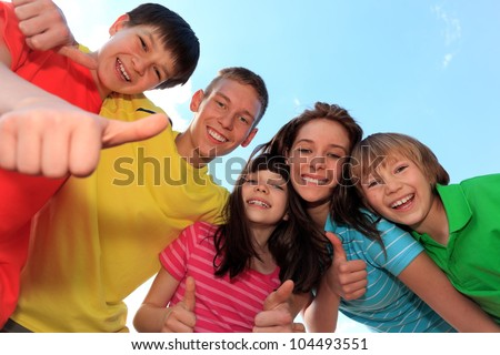 Happy brothers and sisters - Shutterstock ID 104493551