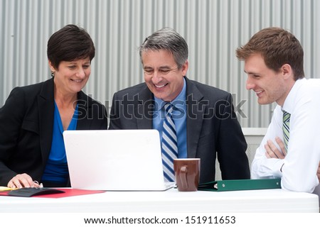 happy business team at the office