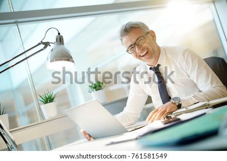 Happy businessman having a good day