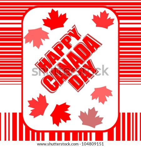 Happy Canada Day card - raster