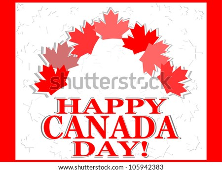 Happy Canada Day card - raster