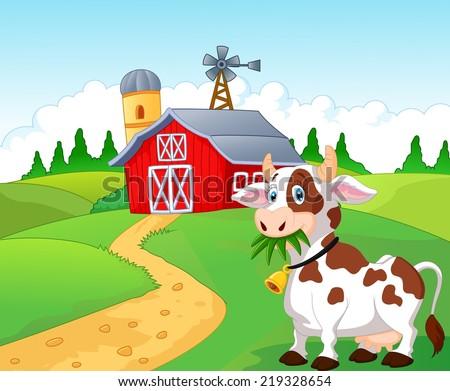 Happy Cartoon Cow 219328654