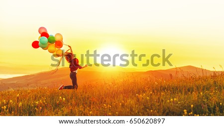 happy cheerful girl with...