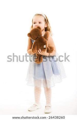 Happy child isolated on white