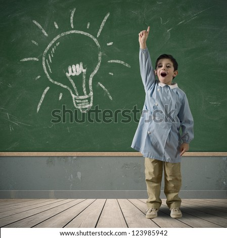 Happy child with a new idea