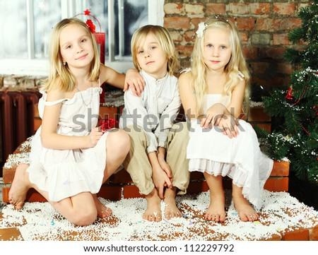 Happy children - Christmas holiday