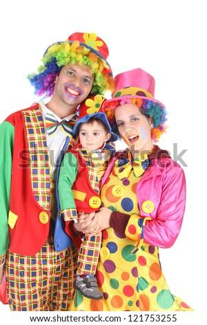 happy clown family