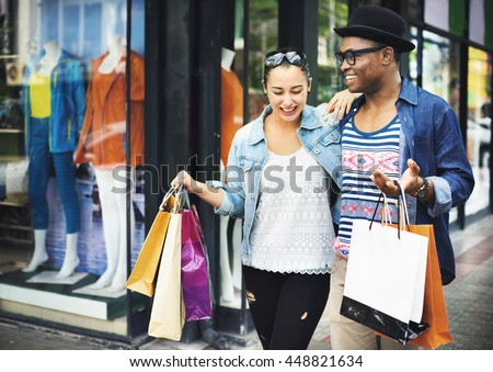 Happy Couple Shopping Mall Concept