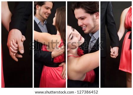 Happy couple while Valentine�¢??s day. Love concept