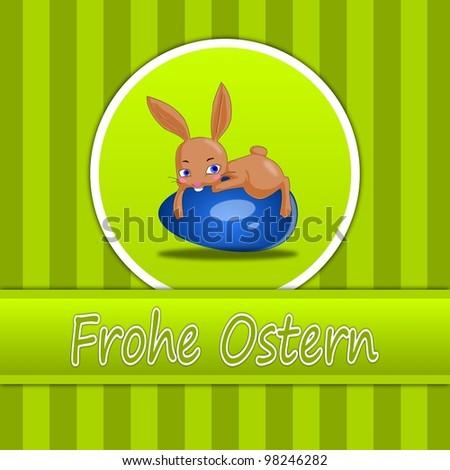 Happy Easter Card in German