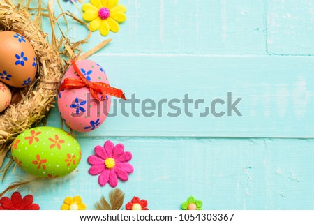 happy easter  colorful of...