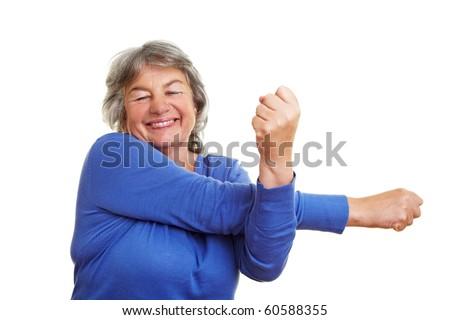 Happy Gray Hair Happy Elderly Woman With Gray