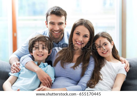 Happy family at home  #655170445