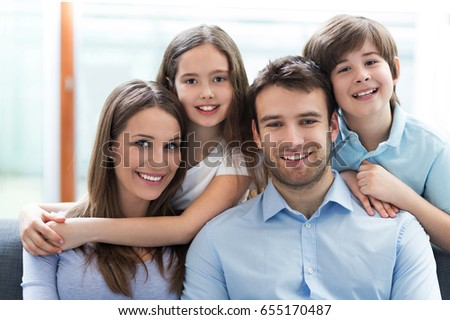 Happy family at home  #655170487