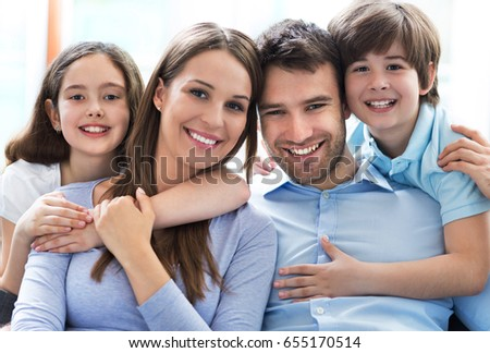 Happy family at home  #655170514