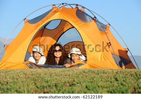 Happy Family Camping