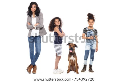 Happy family full body