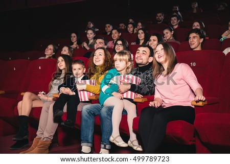 Happy family in the movie