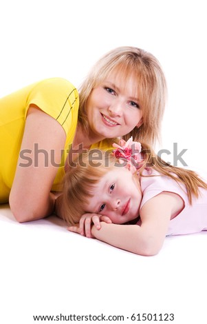 Happy family -  mother and daughter